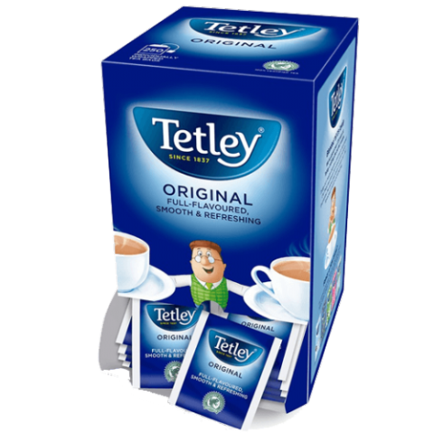 Tetley Tea Sachets - Individual Enveloped Tagged Tea Bags (100 Sachets)